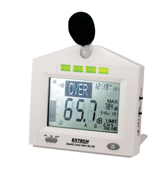 Table Top Sound Level Meter With Alarm [SL130W] - Nevco