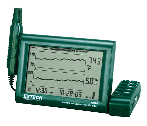 Humidity And Temperature Chart Recorder Rh520a Nevco